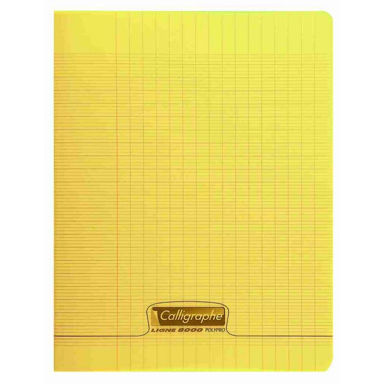 Cahier piqué Calligraphe 8000 24x32cm 48 pages Séyès Jaune