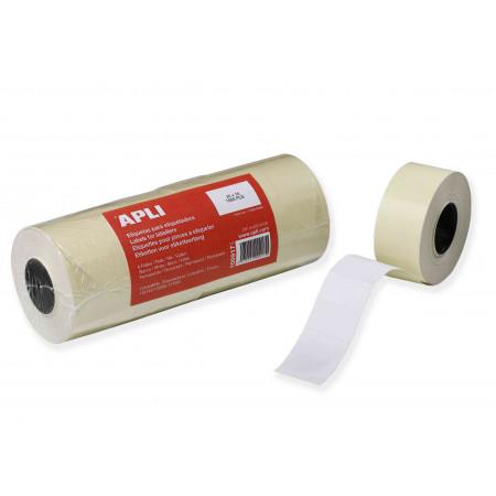 LOT 6 ROULEAUX 1000 ETQUETTES - 26x16 Blanc