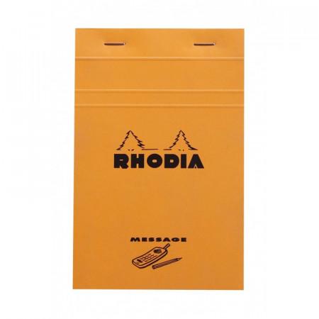 Bloc agrafé Rhodia ORANGE Message 11x17cm 80F 80g