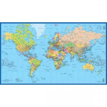 CARTE MURALE PLASTIFIE MAP MONDE 154*90
