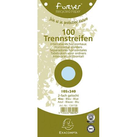 FICHE INTERCAL TRAPEZOIDAL BLEU 105*250