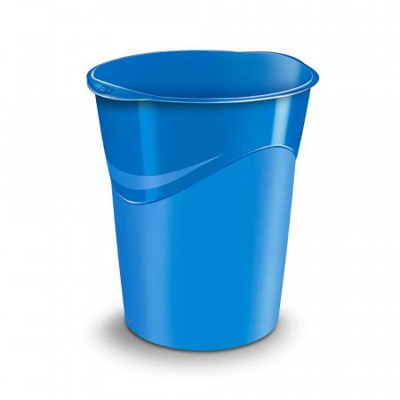 Corbeille à papier 14L - Bleu