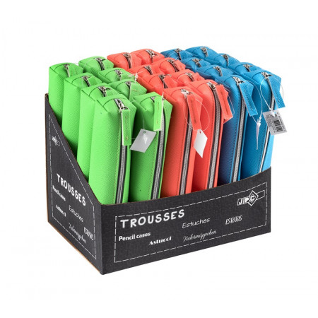 MINI TROUSSE CARRE SIMILI CUIR FLUO ASS