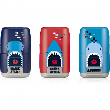 GOMME + TAILLE CRAYON SHARK