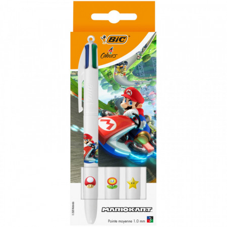STYLO 4 COULEURS MARIO X3