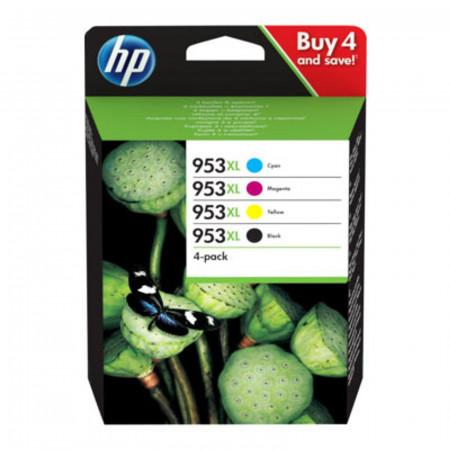 PACK HP 953XL NOIR + 3 COULEURS