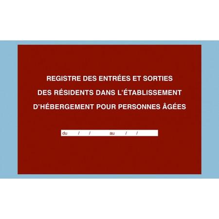 """Registre """"Entrées et sorties des résidents dans l'EHPA/D"""""""