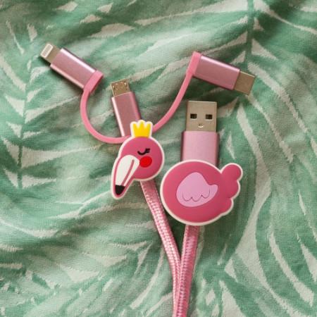 Chargeur Flamingo 3 en 1