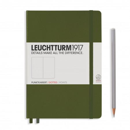 Carnet Medium (A5) couverture rigide, 249 pages numérotées, ligné, army