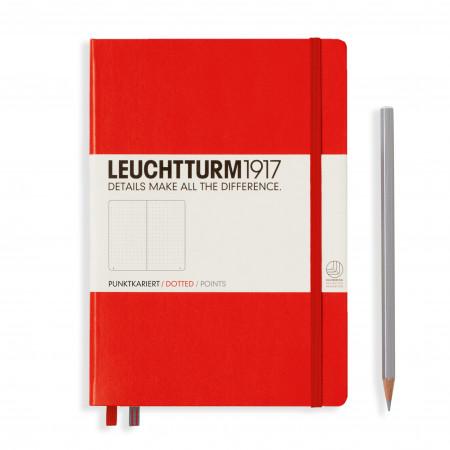 Carnet Medium (A5), Couverture rigide, 251 pages numérotées, Argent, Neon Rose, dotted