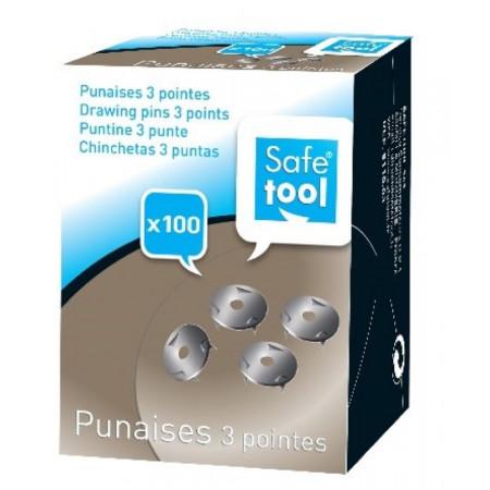 BTE DE 100 PUNAISES 3 POINTES