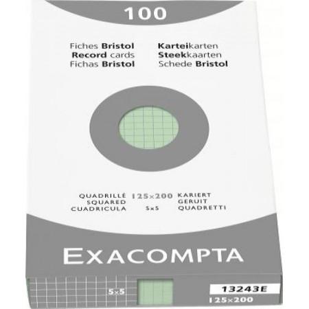 PAQUET DE 100 FEUILLES BRISTOL - 125X200 - Petits Carreaux 5X5 - VERT