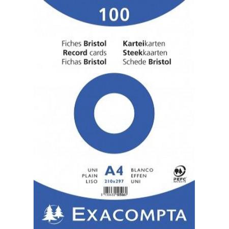 PAQUET FEUILLES BRISTOL, Format A4, Petits Carreaux, 21X29.7 - 100 FEUILLES UNI BLANC 5X5