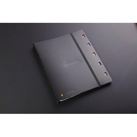 EXABOOK - Format A4 - Petits Carreaux 5X5 - NOIR - 160 Pages