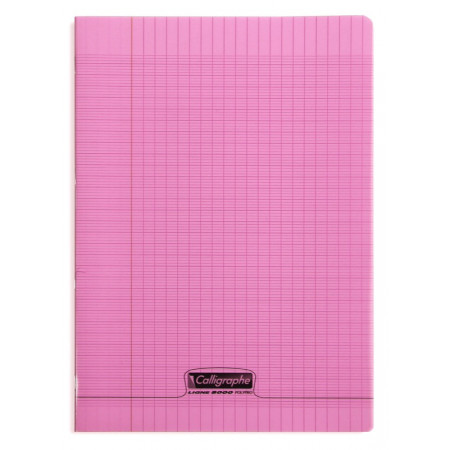 CAHIER POLYPRO, Format A4, Grands Carreaux, 21X29.7 - 96 PAGES SEYES ROSE