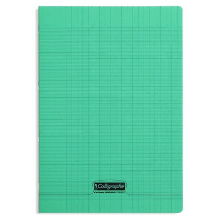 CAHIER POLYPRO, Format A4, Grands Carreaux, 21X29.7 - 96 PAGES SEYES VERT
