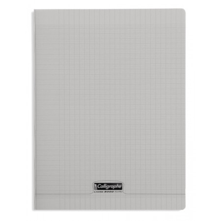CAHIER POLYPRO, Grand Format, Grands Carreaux, 24X32 - 96 PAGES SEYES GRIS