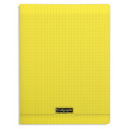 CAHIER POLYPRO, Grand Format, Grands Carreaux, 24X32 - 96 PAGES SEYES JAUNE
