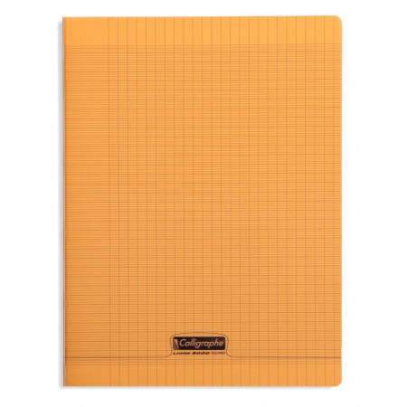 CAHIER POLYPRO, Grand Format, Grands Carreaux, 24X32 - 96 PAGES SEYES ORANGE