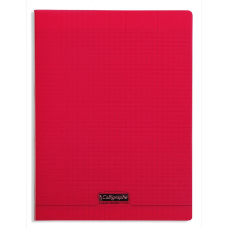 CAHIER POLYPRO, Grand Format, Grands Carreaux, 24X32 - 96 PAGES SEYES ROUGE