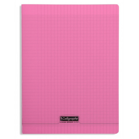 CAHIER POLYPRO, Grand Format, Grands Carreaux, 24X32 - 96 PAGES SEYES ROSE