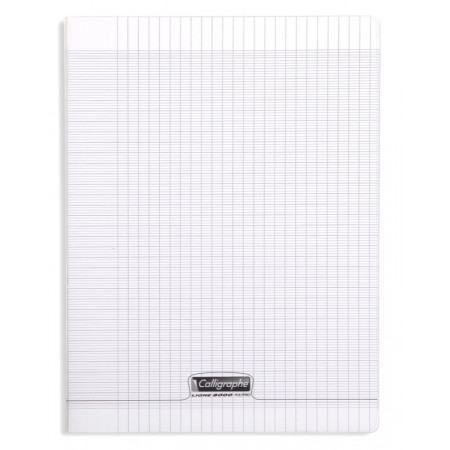 CAHIER POLYPRO, Grand Format, Grands Carreaux, 24X32 - 96 PAGES SEYES TRANSPARENT