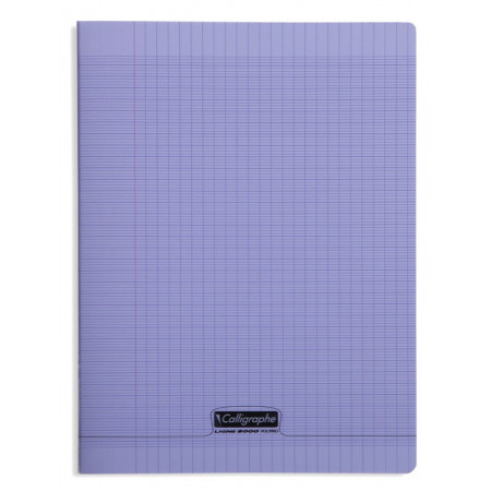 CAHIER POLYPRO, Grand Format, Grands Carreaux, 24X32 - 96 PAGES SEYES VIOLET