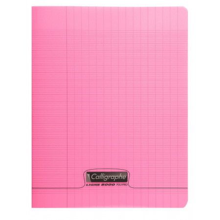 CAHIER POLYPRO, Petit Format, Grands Carreaux, 17X22 96 PAGES SEYES ROSE