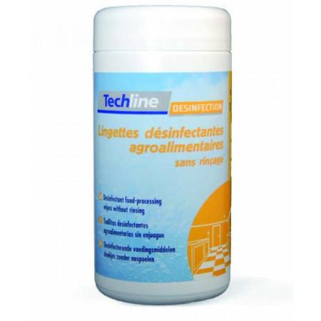 Bte de 100 lingettes désinfectant agroalimentaire