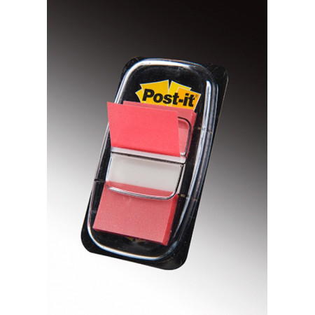 MARQUE PAGE POST IT 25*44MM ROUGE
