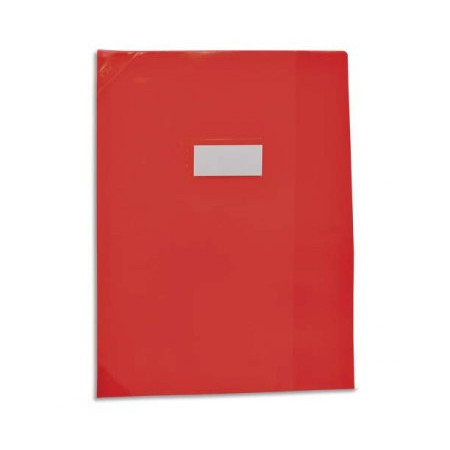 PROTEGE CAHIER 17X22 ROUGE